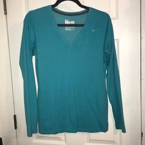 Nike Long Sleeve V Neck Tee